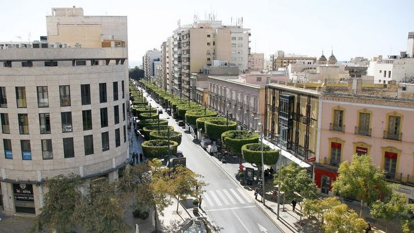 Almería, preocupada por el centro