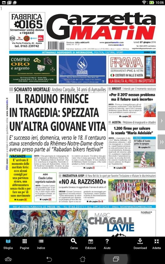 Gazzetta Matin- screenshot
