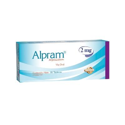 Alprazolam Alpram 2,0 mg x 30 Tabletas Valmor 2 mg x 30 Tabletas