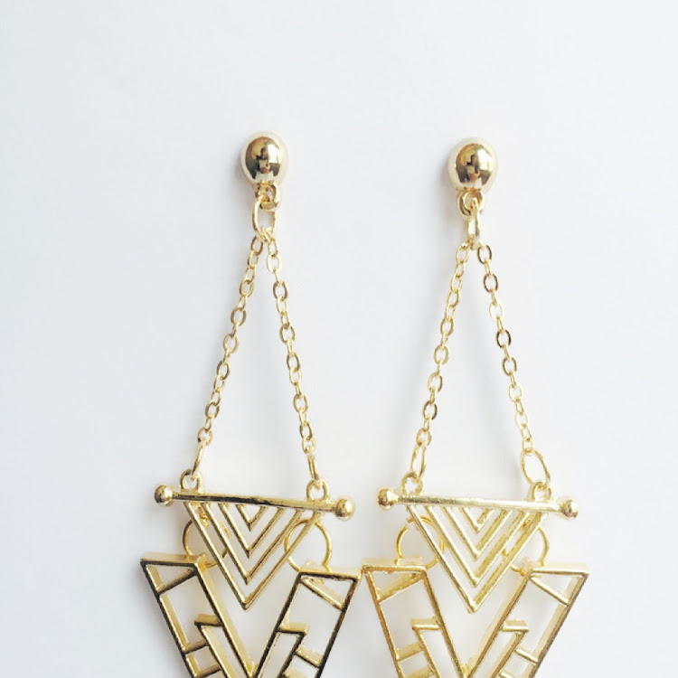 E031 - G. Uptown Geo Earrings by House of LaBelleD.
