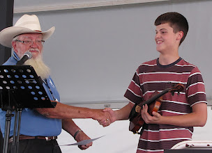 Photo: Accepting Award from Gary Veeder - Vincent Ciannone: First Place Winner in Junior Category  - Photo by Fred Robbins
