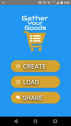 Grocery List - GatherYourGoods