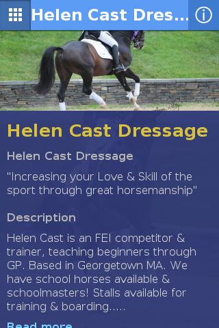 Helen Cast Dressage