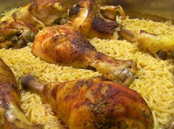 Ridiculously Easy Baked Chicken With Rice Recipe