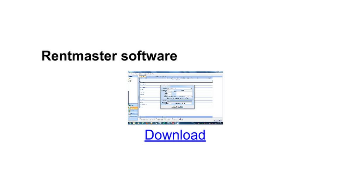 rentmaster keygen software