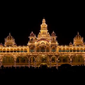 Mysore Palace by . Reedd2 - Buildings & Architecture Public & Historical ( lights, mysore, india, kerala, palace, mysore palace,  )