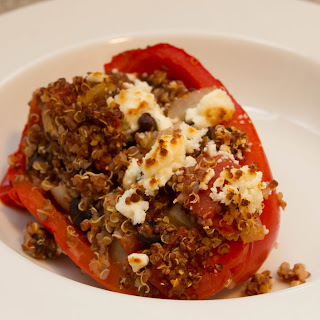How to Prepare Quinoa and Black Bean Stuffed Peppers.
