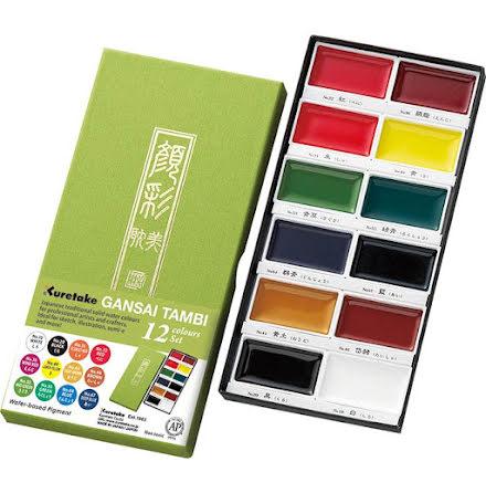 Gansai Tambi Akvarell set 12st