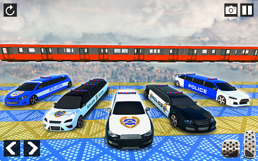 Police Limo Car Stunts - Mega Ramp Car Racing Game android2mod screenshots 8