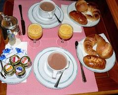 Frühstück für zwei Personen.