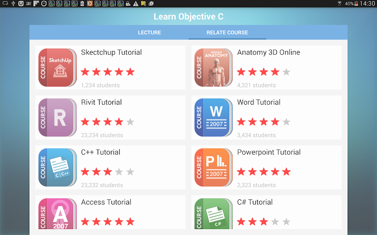 android Learn Objective C Screenshot 8