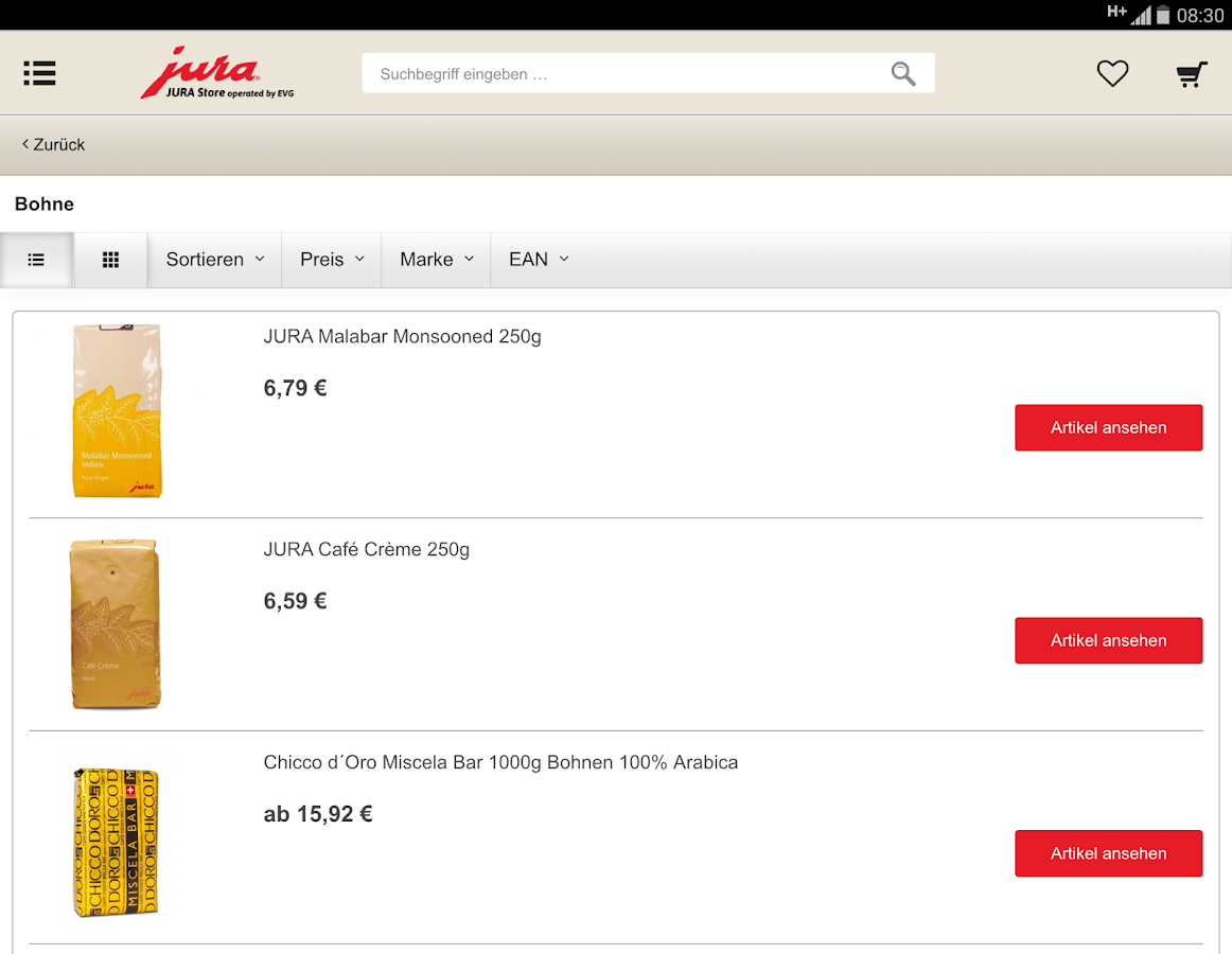 JURA Store Online Shopping- screenshot