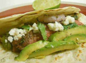 Grilled Steak and Veggies Tacos