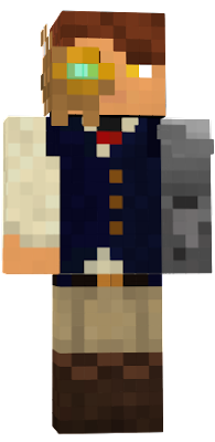 Fantasy skin, steampunk and medieval mix. He has a mechanichal arm and a broken helmet.