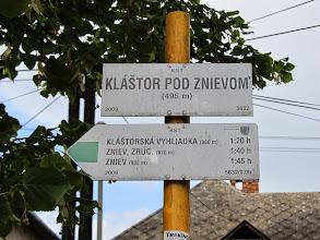 Photo: 01.Startujemy z malowniczej wsi Kláštor pod Znievom (495 m), a celem naszej wycieczki jest Zamek Zniev oraz wznoszący się nad nim szczyt Zniev (985 m).