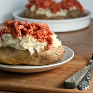 BBQ Chicken Baked Potatoes with Hidden Cauliflower Mash.