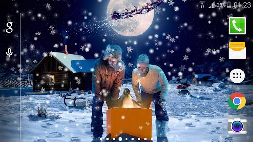 圣诞雪之夜动态壁紙