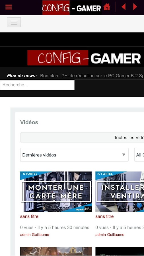 Config Gamer - Guide achat PC – Capture d'écran
