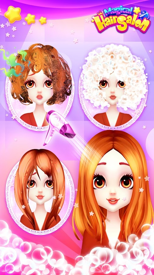 Strange Hair Salon Games Girl Makeover Android Apps On Google Play Hairstyle Inspiration Daily Dogsangcom
