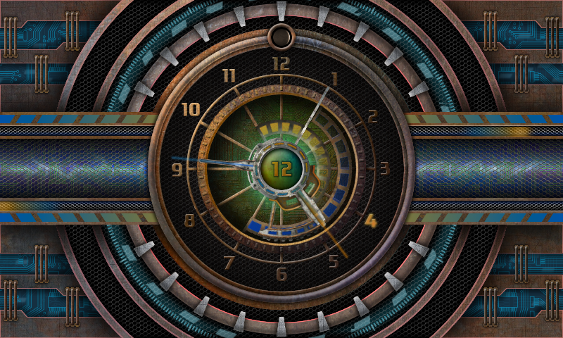 Tech Clock live wallpaper- screenshot
