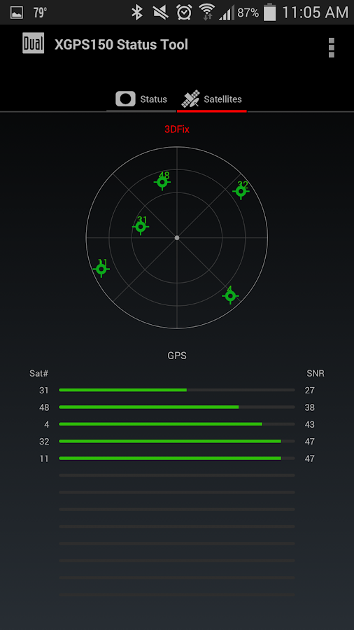 Bluetooth GPS Status Tool- screenshot