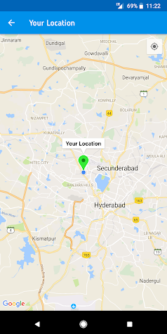 Live Mobile Location and GPS Coordinates Screenshot