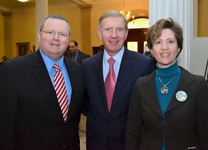 Photo: Martin Healy (COO, MBA), BBA President Paul Dacier, and BBA President-Elect Julia Huston.