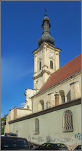 Photo: Cluj-Napoca - Str. Emile Zola, vedere Biserica Franciscana din Piata Muzeului - 2018.04.27