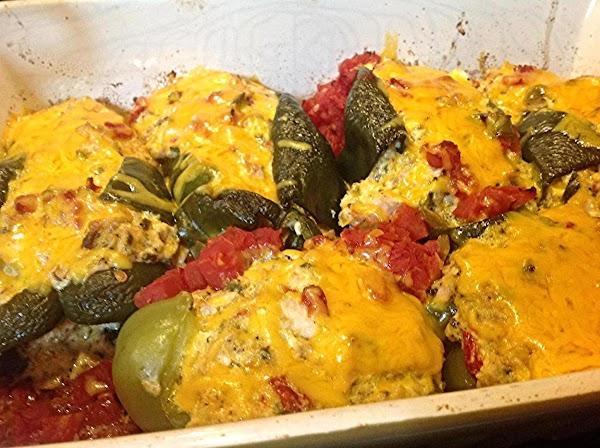 Creamy Stuffed Chicken Poblano Peppers Recipe