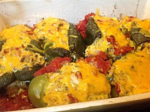 Creamy Stuffed Chicken Poblano Peppers