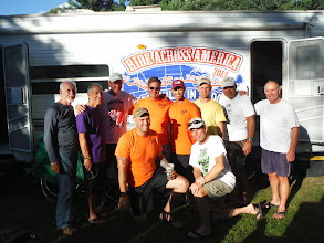 Photo: Day 53 August 10 Bennington To Brattleboro VT Army team up here to run the Tough Mudder race.