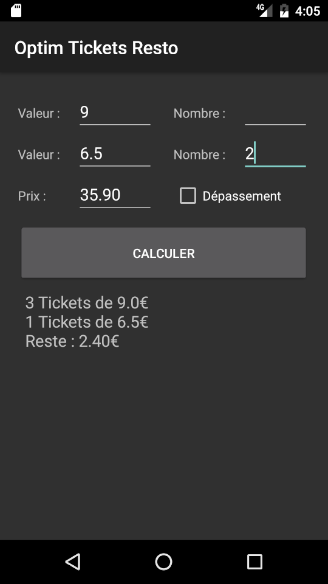 Optim Tickets Resto- screenshot