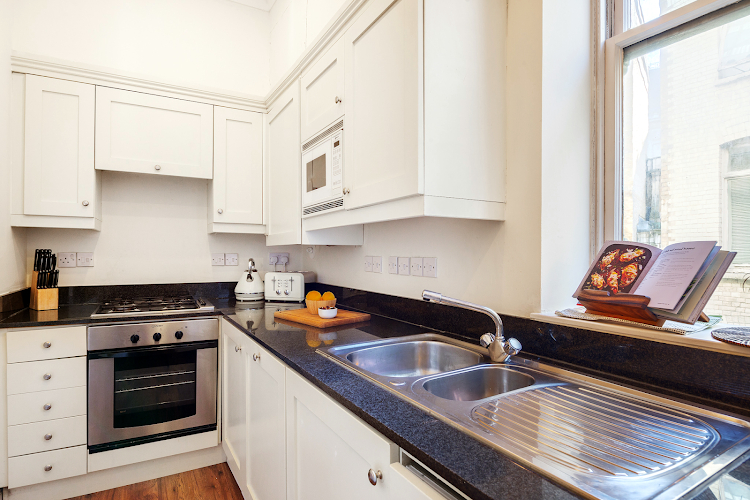 Fully equipped kitchen at Creechurch Lane Apartments, Aldgate