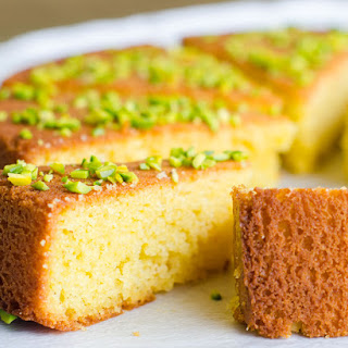 Orange Blossom Honey Glazed Cornmeal Cake