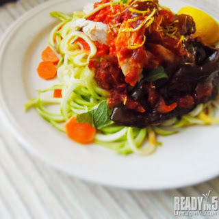 Chicken and Eggplant Zoodles.