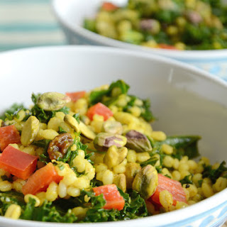 Barley and Kale Moroccan Salad