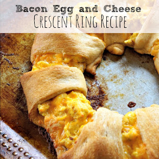 Bacon Egg and Cheese Crescent Ring