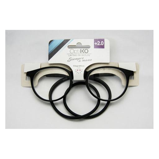 lentes de lectura magnético optiko negro +2.00