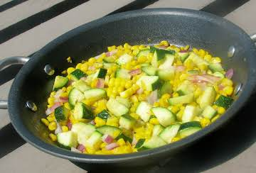 Corn and Zucchini Side Salad