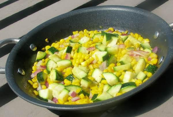 Corn And Zucchini Side Salad