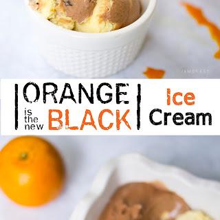 Orange is the New Black Ice Cream.