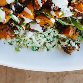 Spice-roasted Butternut Pumpkin W/ Herbed Millet + Tahini Dressing