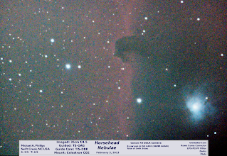 Photo: My evergoing spring cleaning brings us back to the +Virtual Star Partyfrom February 3, 2013. I started the show with the Horsehead and didn't get much time on the subject, but here's the efforts and please no more ISO 6400 on the Canon 7D for me! Day38