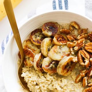 Caramelized Banana Quinoa Breakfast Bowl.