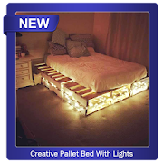 Creative Pallet Bed With Lights icon