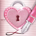 Rose Gold Secret Diary With Lock icon