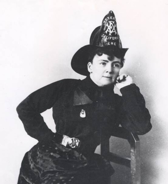 Lillian Hitchcock Coit, honorary firefighter.
