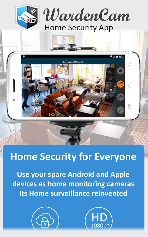 Home Security Camera WardenCam - reuse old phones- screenshot