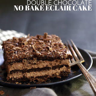 Double Chocolate Eclair Cake.