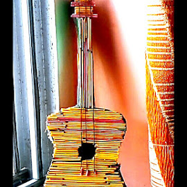 GUITAR by Tina Banik - Artistic Objects Still Life ( light and shade object, still life, guitar )